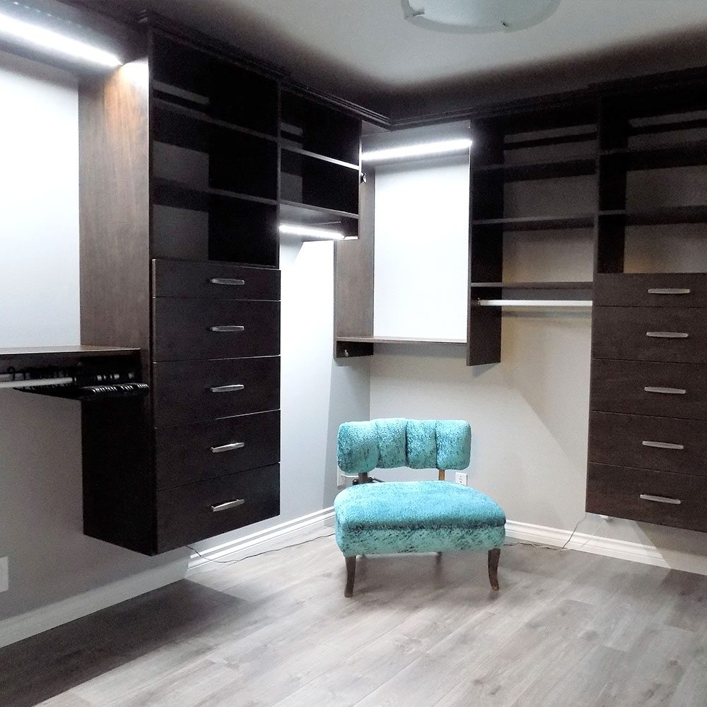 See our work delta closets home organization for Walk in closet square footage
